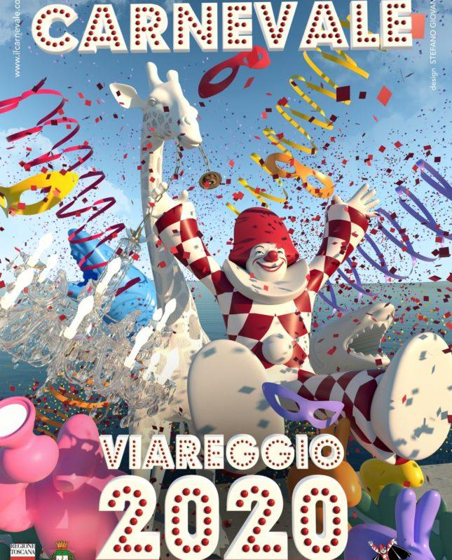 Manifesto del Carnevale di Viareggio 2020 - Carnevali d'Italia